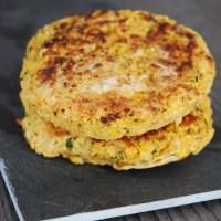 Burger de pois chiche et maïs (vegan)