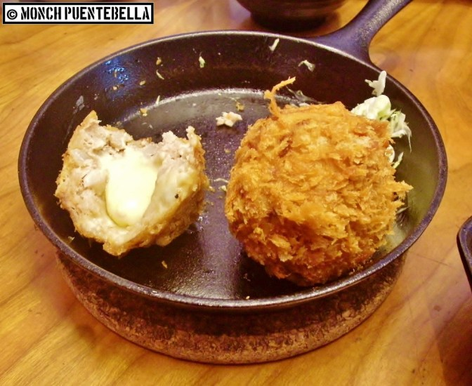 Menchi Katsu with Cheese Set (P295): Generously sized-meatballs with cheese. I initially appreciated this, but the umami taste was too much after a certain point.