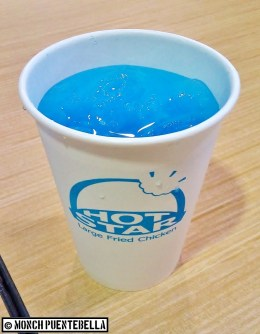 Blue Lemonade (P28 / regular size): Regular blue lemonade, which is perfect to wash down the savory chicken.