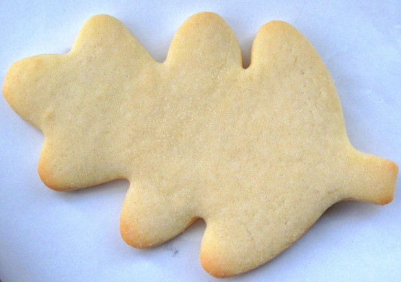 Decorated Thanksgiving Sugar Cookies start with a vanilla sugar cookie.