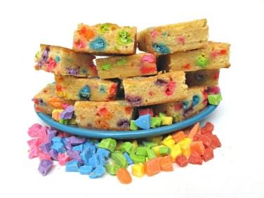 Rainbow Chip Blondies