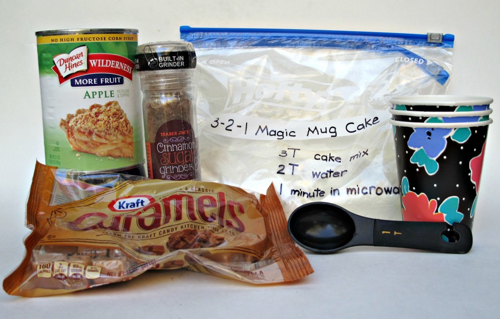 3-2-1 Caramel Apple Mug Cake ingredients