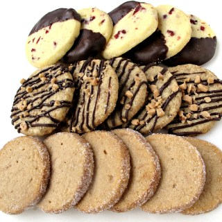Slice-and-Bake Shortbread: one dough, three cookie flavors
