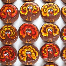 Turkey Decorated Sugar Cookies