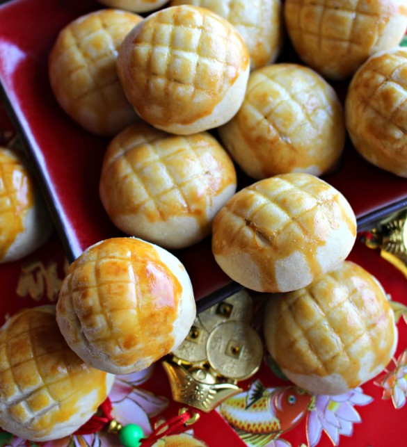 Pineapple Cookies (凤梨酥) for Chinese New Year
