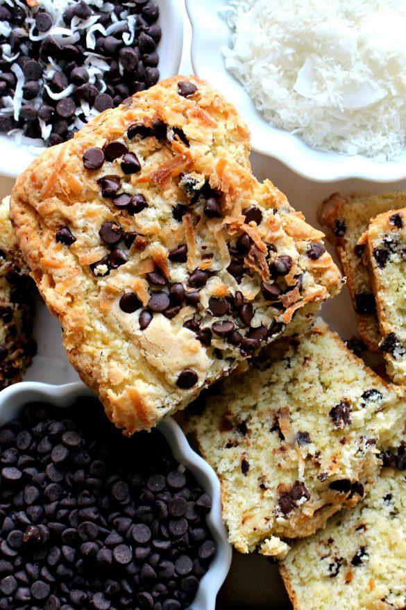 Coconut Milk Chocolate Chip Pound Cake