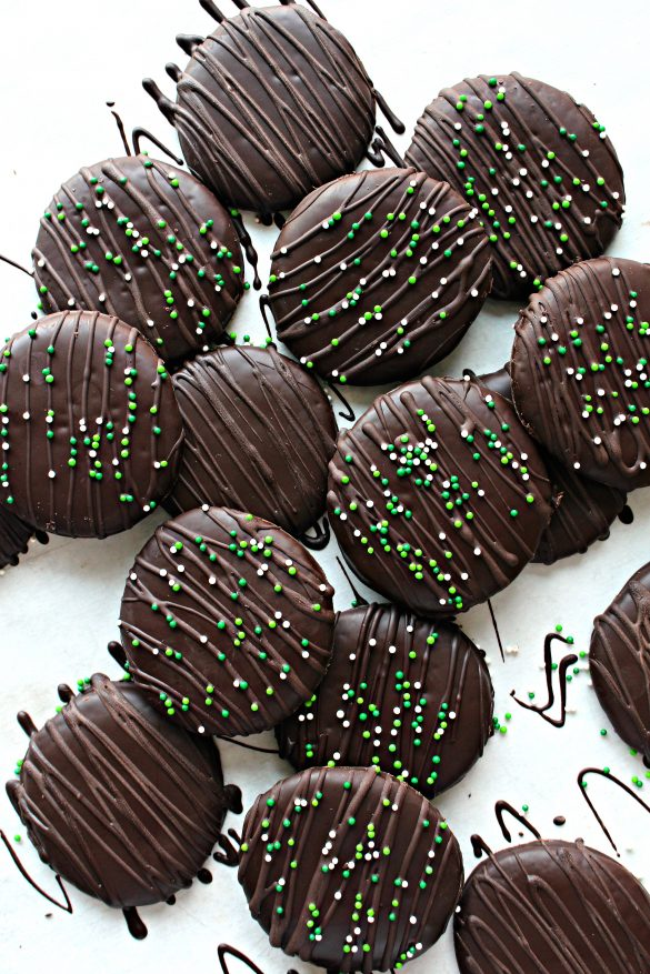 Chocolate Covered Chocolate Mint Cookies