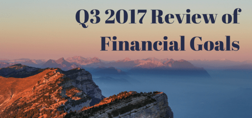 Q3 2017 Review of Financial Goals