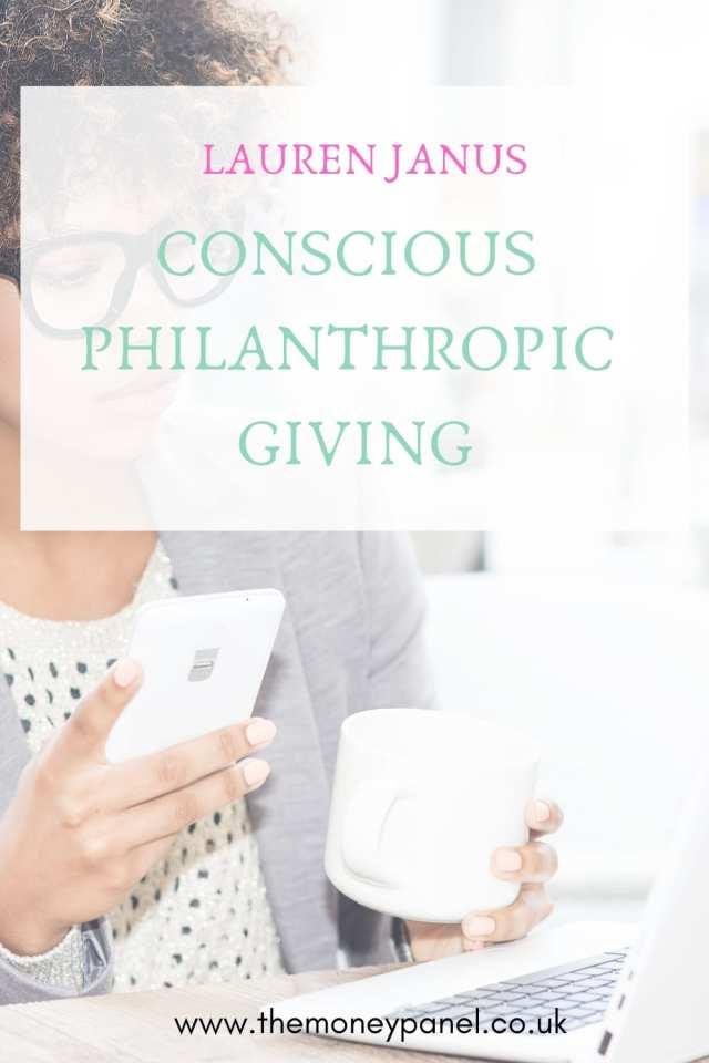 conscious philanthropic giving for women children and millennials with lauren janus