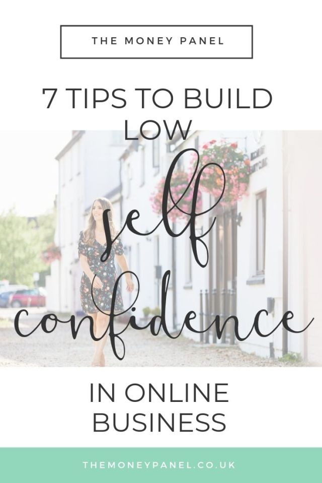 7 steps to build self confidence in online business. If you're struggling to put yourself out there on social media because you have low self confidence, this is for you.