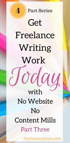 Find freelance writing work
