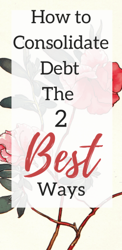 The best way to consolidate debt