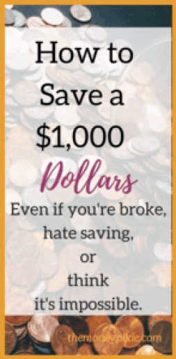 How to Save a $1,000