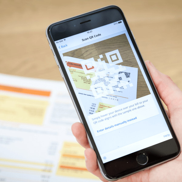 uswitch QR scanner on iphone