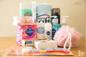 toiletries for food bank donations