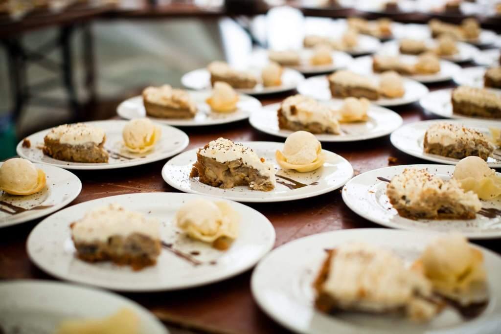 Lots of wedding desserts