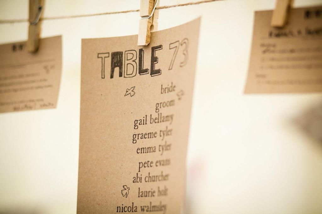 Table plan for wedding