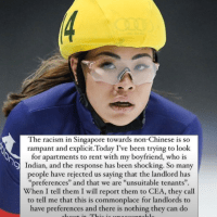 """SEA Games gold medallist Anja Chong says racism in Singapore towards non-Chinese is """"rampant and explicit""""."""