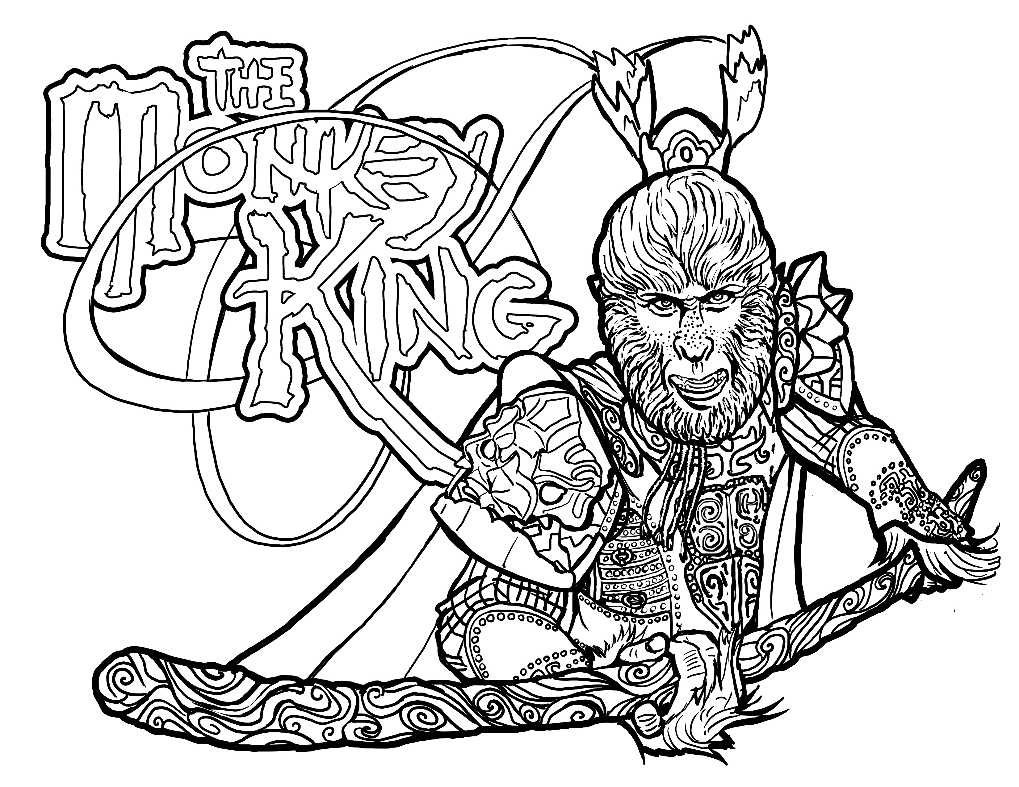 Coloring Pages The Official World Of The Monkey King Join The