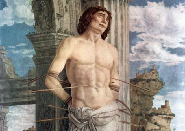 St Sebastian detail Andrea Mantegna 1480_crop2