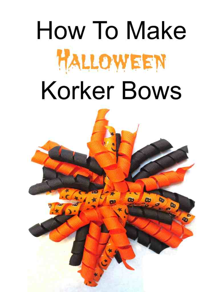 How To Make Halloween Korker Bows