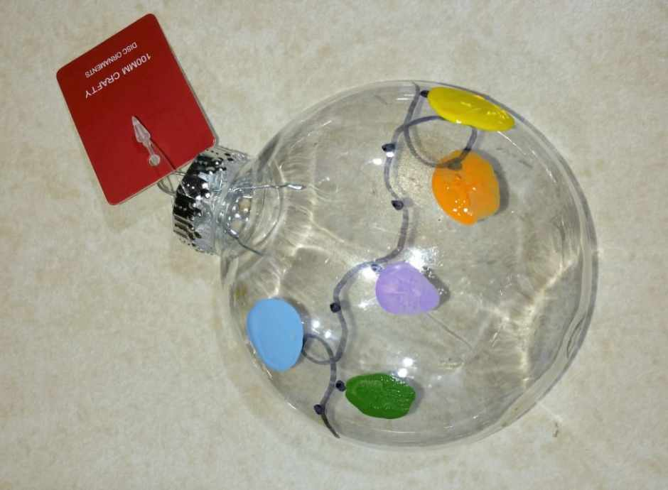 keepsake thumbprint Christmas bulb ornament 3