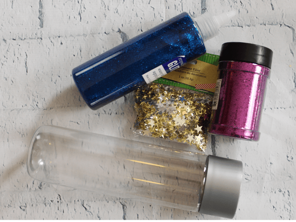 galaxy sensory bottle ingredients ornament filler glitter glue fine glitter and voss bottle