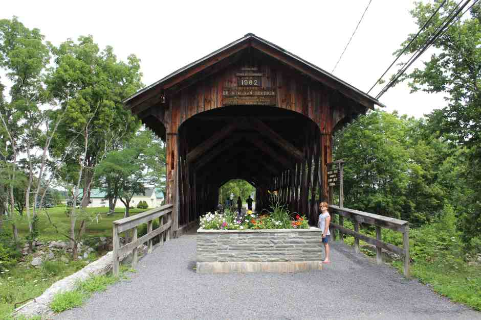 Wooden covered Fox Creek Bridge in Schoharie, NY