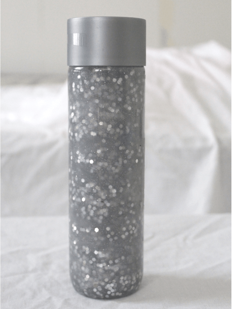 Silver Snow Sensory Bottle Finish