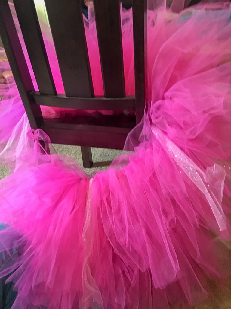 Keep adding tulle until the tutu is as full as you want.