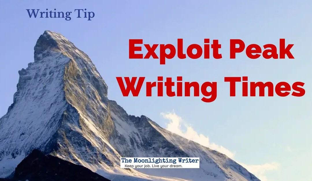 Exploit Peak Writing Times — Quick Writing Tip