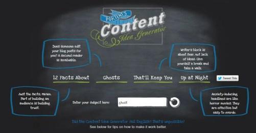 Portent's Content Idea Generator Result