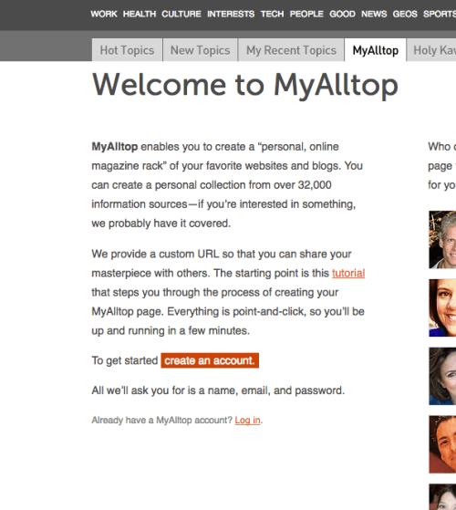 MyAlltop Create Account