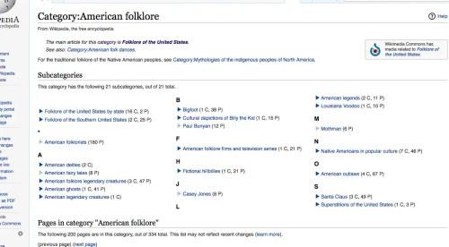 Wikipedia American Folklore