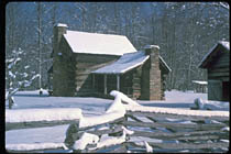 Appalachian Cabin in Winter