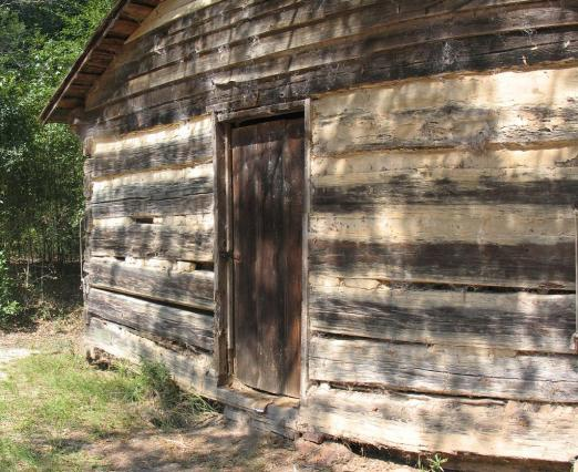 Log Cabin Door from Tsali Ghost Story Cherokee North Carolina