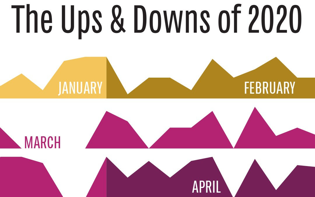 An Infographic Design Experiment: The Ups & Downs of 2020