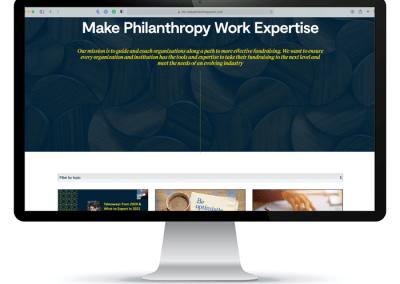 Make Philanthropy Work