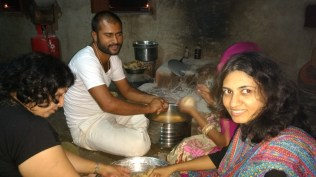 Making Churma with Mr. C and Wife