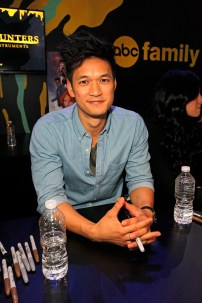 "SHADOWHUNTERS - The cast and creators of ABC Family's ""Shadowhunters"" appear at New York Comic-Con on October 10, 2015 to discuss the new series. ""Shadowhunters"" premieres Tuesday, Jan. 12 at 9 p.m. ET on ABC Family. (ABC Family/Lou Rocco) HARRY SHUM JR."