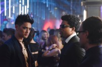"SHADOWHUNTERS - ""The Mortal Cup"" - One young woman realizes how dark the city can really be when she learns the truth about her past in the series premiere of ""Shadowhunters"" on Tuesday, January 12th at 9:00 - 10:00 PM ET/PT. ABC Family is becoming Freeform in January 2016. Based on the bestselling young adult fantasy book series The Mortal Instruments by Cassandra Clare, ""Shadowhunters"" follows Clary Fray, who finds out on her birthday that she is not who she thinks she is but rather comes from a long line of Shadowhunters - human-angel hybrids who hunt down demons. Now thrown into the world of demon hunting after her mother is kidnapped, Clary must rely on the mysterious Jace and his fellow Shadowhunters Isabelle and Alec to navigate this new dark world. With her best friend Simon in tow, Clary must now live among faeries, warlocks, vampires and werewolves to find answers that could help her find her mother. Nothing is as it seems, including her close family friend Luke who knows more than he is letting on, as well as the enigmatic warlock Magnus Bane who could hold the key to unlocking Clary's past. (ABC Family/John Medland) HARRY SHUM JR., CURTIS MORGAN"