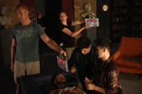 """SHADOWHUNTERS - """"Of Men and Angels"""" - Magnus and Luke reveal Clary's past in """"Of Men and Angels,"""" an all-new episode of """"Shadowhunters,"""" airing Tuesday, February 16th at 9:00 – 10:00 p.m., EST/PST on Freeform, the new name for ABC Family. (Freeform/John Medland) ISAIAH MUSTAFA, MATTHEW DADDARIO, HARRY SHUM JR."""