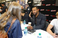 """SHADOWHUNTERS - The cast and producers of Freeform's """"Shadowhunters,"""" are featured at the COMIC CON Convention at the Jacob Javits Center in New York City on October 8, 2016. (Freeform/Lou Rocco) FANS, ISAIAH MUSTAFA"""