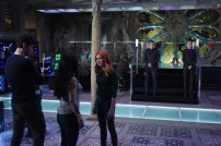 "SHADOWHUNTERS - Clary struggles to find where she belongs, while Simon seeks Magnus' help in ""A Door Into the Dark,"" an all new episode of ""Shadowhunters,"" airing MONDAY, JANUARY 9 (8:00 – 9:00 PM EDT) on Freeform. (Freeform/John Medland) MATTHEW DADDARIO, KATHERINE MCNAMARA"