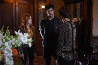 "SHADOWHUNTERS - ""Dust and Shadows"" - Clary takes desperate actions after the attack on the Institute in ""Dust and Shadows,"" an all new episode of ""Shadowhunters,"" airing MONDAY, JANUARY 30 (8:00 – 9:00 PM EDT) on Freeform. (Freeform/John Medland) KATHERINE MCNAMARA, MATTHEW DADDARIO"
