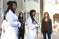 "SHADOWHUNTERS - ""Iron Sisters"" - Clary and Isabelle head to The Citadel looking for answers in ""Iron Sisters,"" an all new episode of ""Shadowhunters,"" airing MONDAY, FEBRUARY 6 (8:00 – 9:00 PM EDT) on Freeform. (Freeform/John Medland) LISA BERRY, EMERAUDE TOUBIA, FARAH MERANI, KATHERINE MCNAMARA"