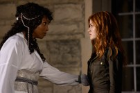 "SHADOWHUNTERS - ""Iron Sisters"" - Clary and Isabelle head to The Citadel looking for answers in ""Iron Sisters,"" an all new episode of ""Shadowhunters,"" airing MONDAY, FEBRUARY 6 (8:00 – 9:00 PM EDT) on Freeform. (Freeform/John Medland) LISA BERRY, KATHERINE MCNAMARA"
