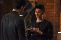 "SHADOWHUNTERS - ""How Are Thou Fallen"" - Clary and Luke find themselves at odds over Cleo in ""How Are Thou Fallen,"" an all new episode of ""Shadowhunters,"" airing MONDAY, FEBRUARY 13 (8:00 – 9:00 PM EDT) on Freeform. (Freeform/John Medland) MATTHEW DADDARIO, HARRY SHUM JR."