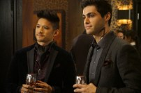 "SHADOWHUNTERS - ""Love Is a Devil"" - Max's Rune Ceremony brings everyone's fears to the forefront in ""Love Is a Devil,"" an all-new episode of ""Shadowhunters,"" airing MONDAY, FEBRUARY 20 (8:00 - 9:00 p.m. EST), on Freeform. (Freeform/Ian Watson) HARRY SHUM JR., MATTHEW DADDARIO"
