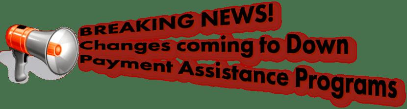 Down Payment Assistance Program Announcement